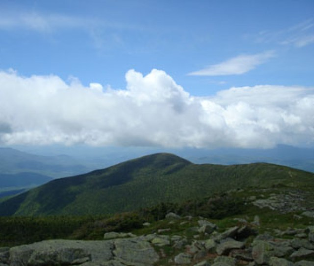Mt Moosilaukes South Peak As Seen From Mt Moosilauke