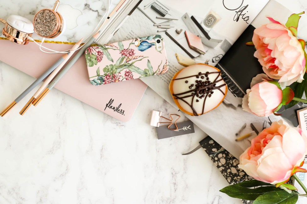 My Workday Essentials | feat Case App iphone case & Caseapp Macbook Skin styled with flowers & Grance Dore Love x Style x Life x book