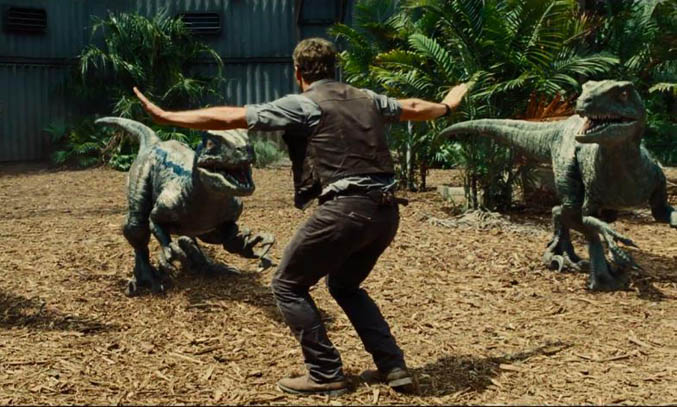 Chris Pratt as Owen Grady in Jurassic World. Image Credit: Universal Studios