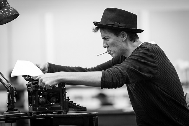 Matt Barber in rehearsals for Breakfast at Tiffany's