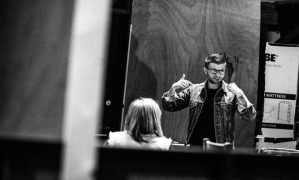 Jamie Lloyd in rehearsals for Doctor Faustus. Image Credit: Matt Humphrey