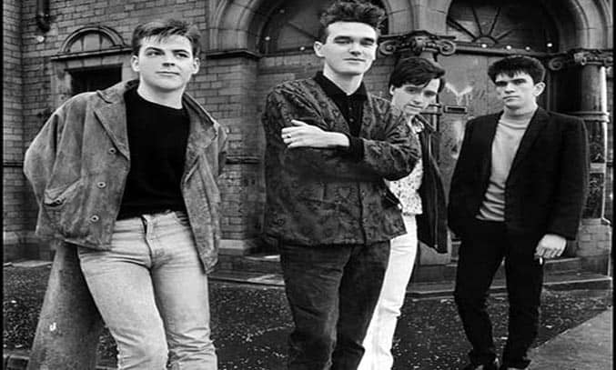 'The Smiths outside Salford Lads Club'. Image courtesy of Stephen Wright.