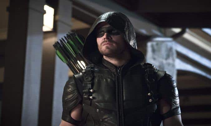 Stephen Amell as Green Arrow in ARROW Season Four