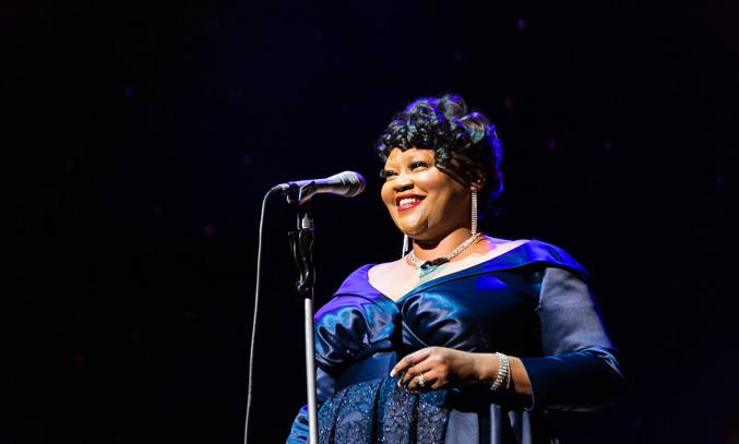 Nicola Emmanuelle as Ella Fitzgerald in THE RAT PACK - LIVE FROM LAS VEGAS. Photo: Betty Zapata