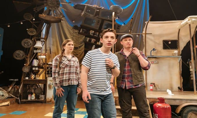 Catherine Morris, Preston Nyman and Justin Wilman in GEORGE'S MARVELLOUS MEDICINE. Photo Credit: Manuel Harlan