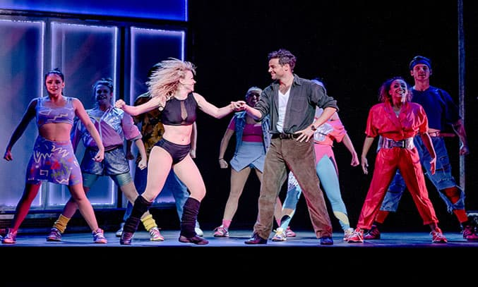 Ben Adams and Joanne Clifton in FLASHDANCE. Photography by Brian Hartley