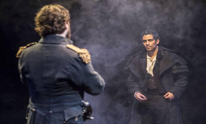 Ryan Gage (Captain Walton) & Shane Zaza (Victor Frankenstein) in FRANKENSTEIN.