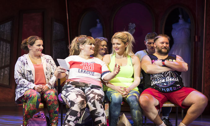 Sam Bailey, Jodie Prenger, Laura Mansell and Craig Armstrong in FAT FRIENDS THE MUSICAL.