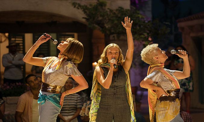 Christine Baranski, Julie Walters, and Amanda Seyfried in Mamma Mia! Here We Go Again (2018)