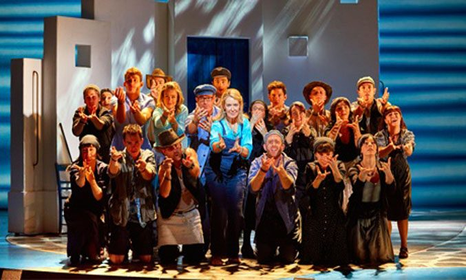 The cast of MAMMA MIA UK Tour.