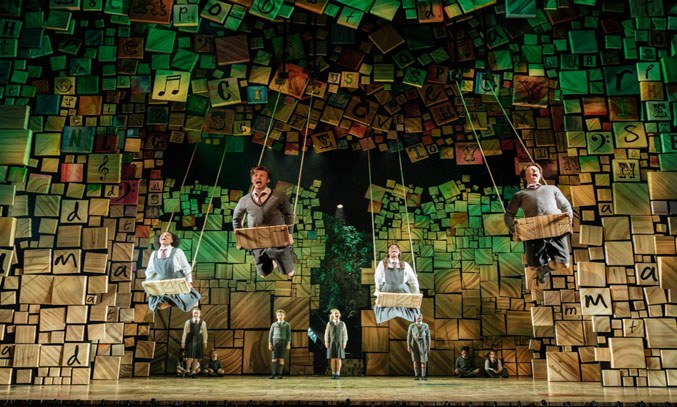 The cast of MATILDA THE MUSICAL UK Tour. Photo Credit: Manuel Harlan