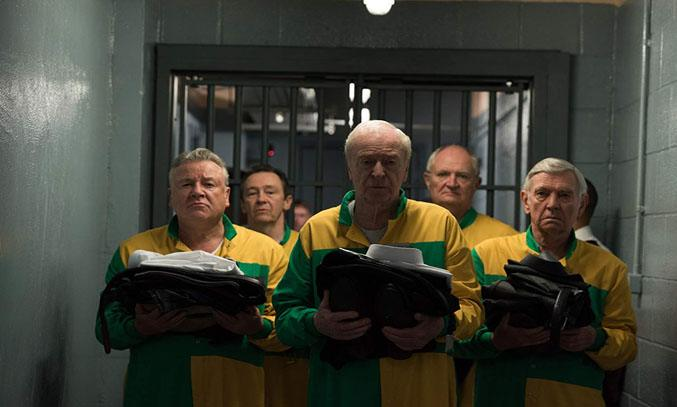 Michael Caine, Jim Broadbent, Tom Courtenay, Paul Whitehouse and Ray Winstone in King of Thieves (2018)