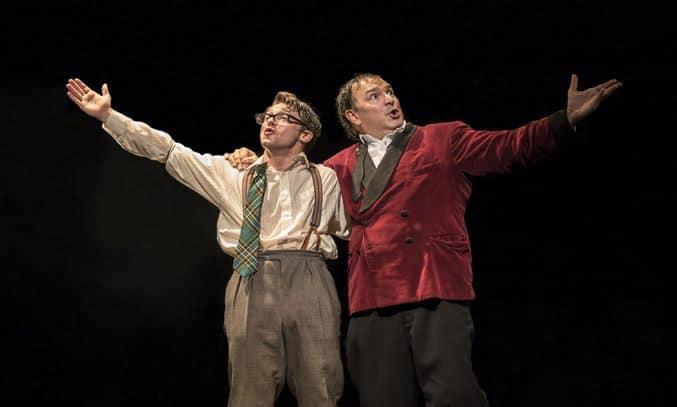 Stuart Neal (Leo Bloom) & Julius D'Silva (Max Bialystock) in THE PRODUCERS