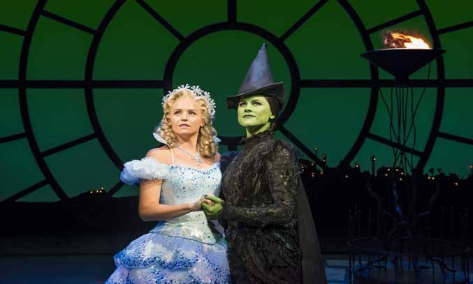 Helen Woolf as Glinda & Amy Ross as Elphaba in WICKED UK Tour.