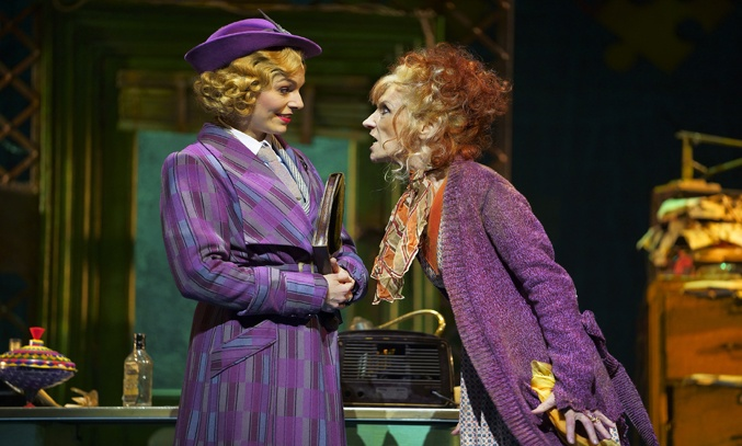Carolyn Maitland as Grace Farrell and Anita Dobson as Miss Hannigan