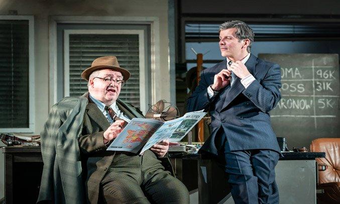 Mark Benton and Nigel Harman in GLENGARRY GLEN ROSS