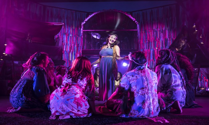 Natalie Green as Mom & the cast of HAIR THE MUSICAL UK Tour
