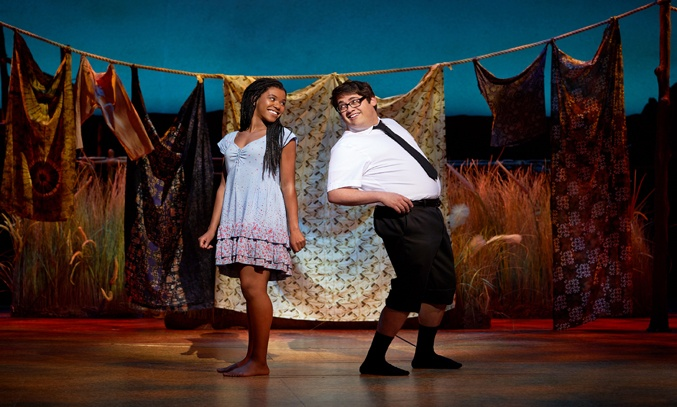 Nicole-Lily Baisden and Conner Peirson in THE BOOK OF MORMON