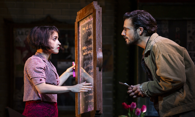 Audrey Brisson and Danny Mac in AMELIE THE MUSICAL