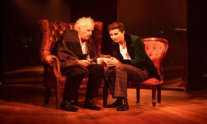 Paul Greenwood and Ryan Kopel in The Astonishing Times of Timothy Cratchit