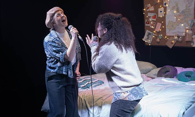 Courtney Stapleton and Eloise Davies in NOW OR NEVER.