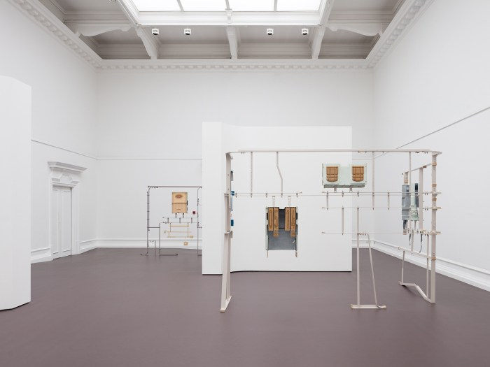Magali Reus, As mist, description, installation view at the South London Gallery, 2018. Photo: Plastiques. © The Artist. Courtesy The Artist and The Approach, London