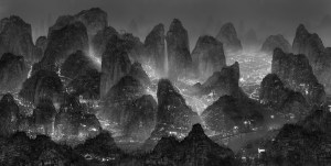 Yang Yongliang, The Moonlight - The Landscape without Night, 2012