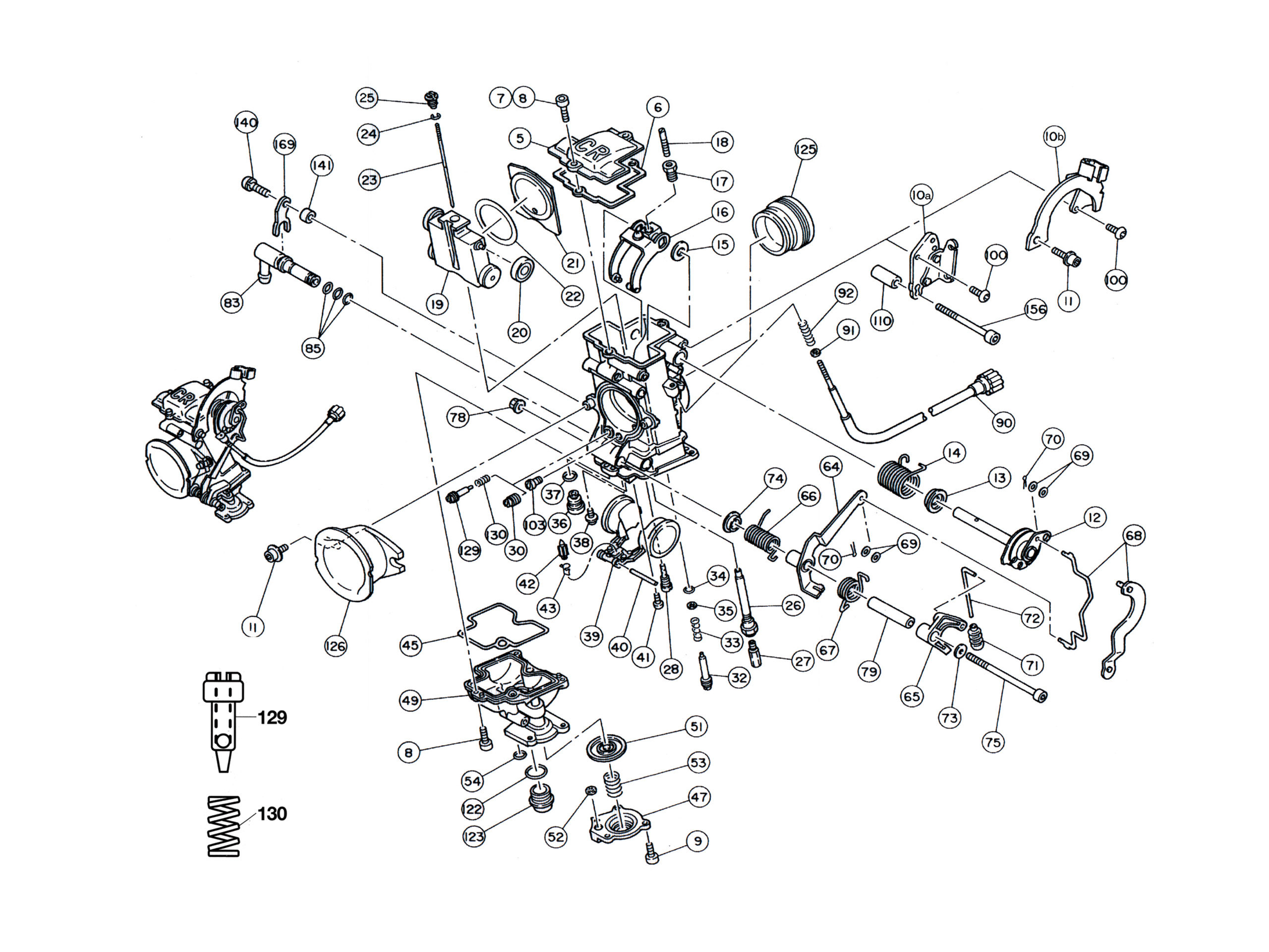 Keihin Fcr Carburetor Parts Diagram