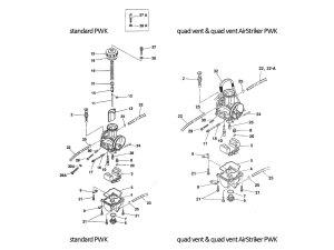Keihin PWK carburetor parts diagram  Frank! MXParts