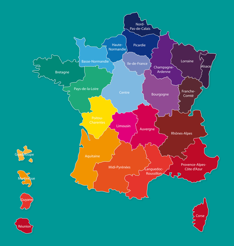 Frankreich Gebiete