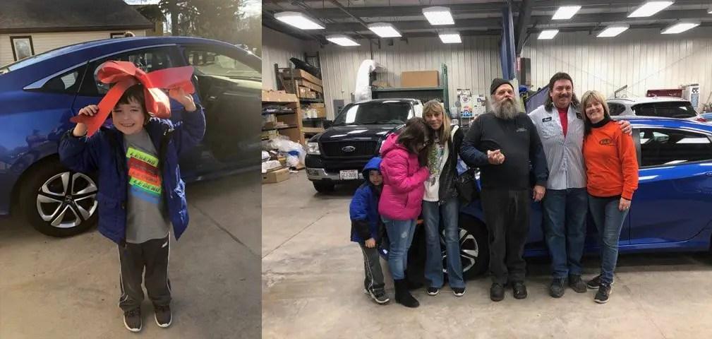 happy customers visiting auto body repair madison