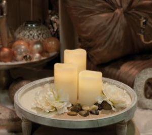 H&S LED Kerzen Set 3tlg. inkl. Fernbedienung