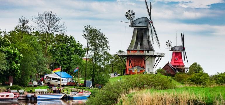 Windmühlen - Greetsiel - August - Franks kleiner Garten