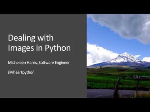 Image Data Manipulation in Python and Jupyter