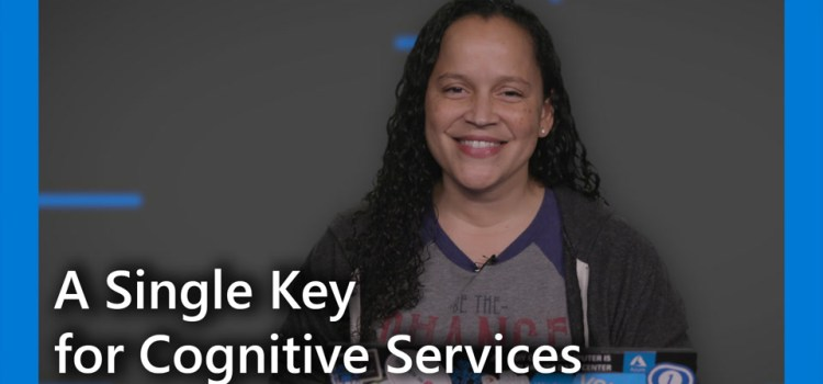 One Key to Rule Them All – Cognitive Services Anyway