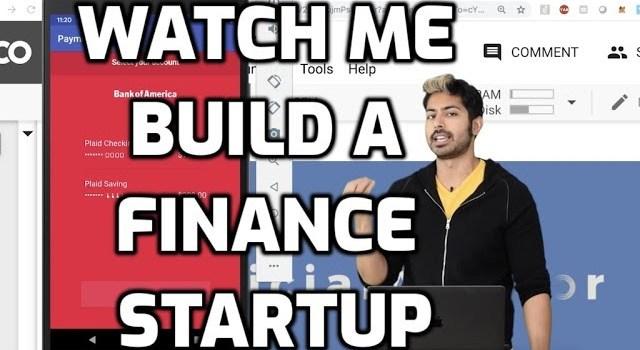 Watch Siaj Raval Build an AI Powered FinTech Startup