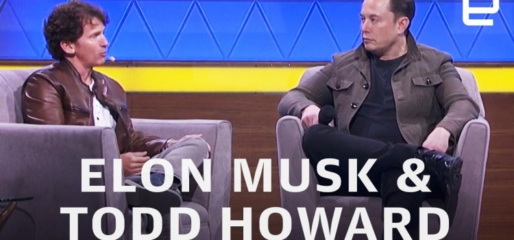 Elon Musk and Bethesda's Todd Howard at E3 2019