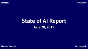 The state of AI in 2019: Breakthroughs in machine learning, natural language processing, games, and knowledge graphs