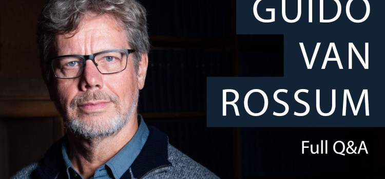 Interview of Creator of Python Programming Language, Guido van Rossum