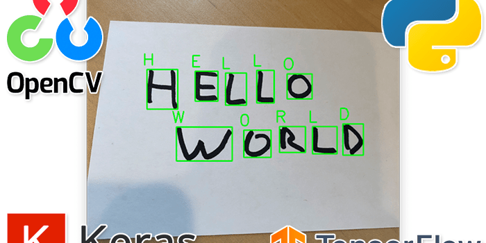 OCR: Handwriting recognition with OpenCV, Keras, and TensorFlow