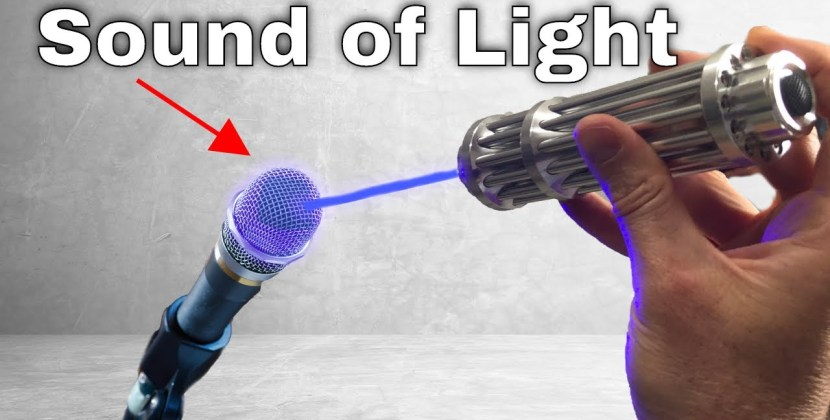 How Can Microphones Record Light?