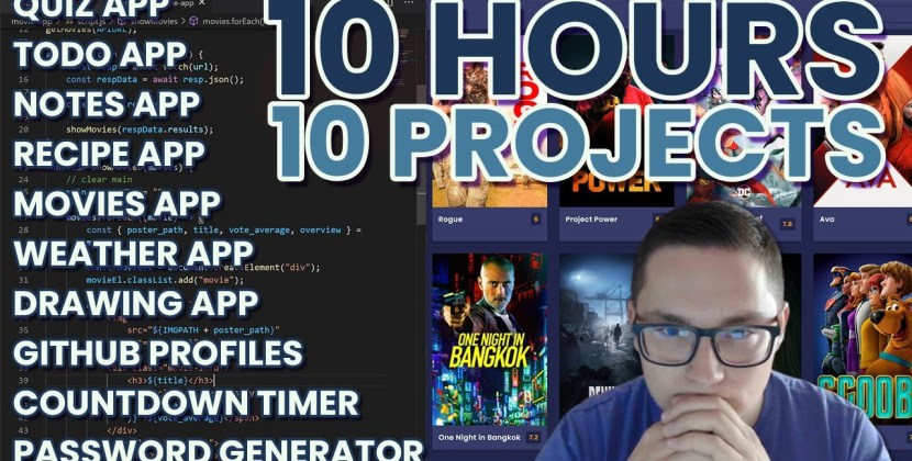 10 JavaScript Projects in 10 Hours