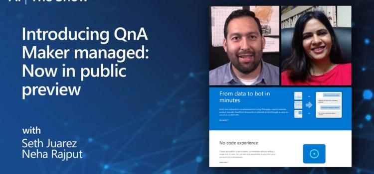 Introducing QnA Managed