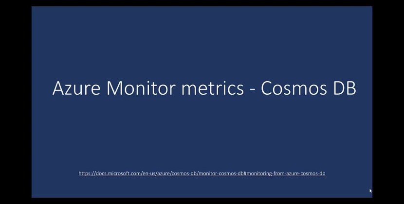 Monitoring Database Performance and Costs with Azure Cosmos DB