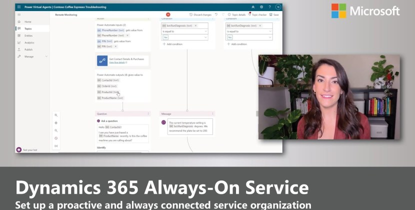 Proactive, Always-on Service in Dynamics 365 with Chatbots, IVA, and IoT