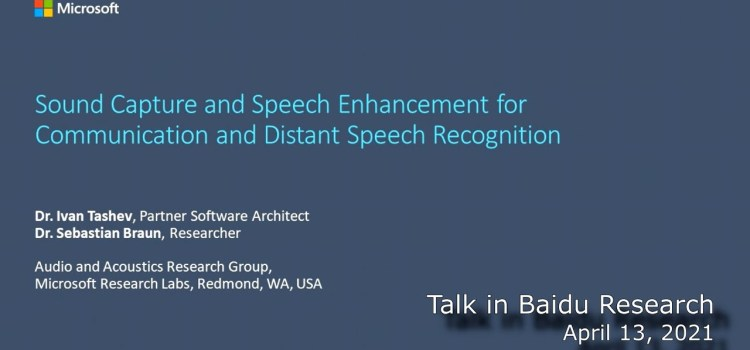 Sound Capture and Speech Enhancement for Communication and Distant Speech Recognition