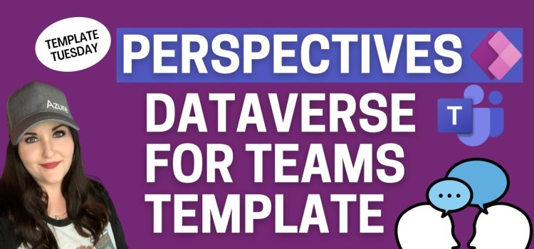 Dataverse for Teams Perspectives Power Apps Template