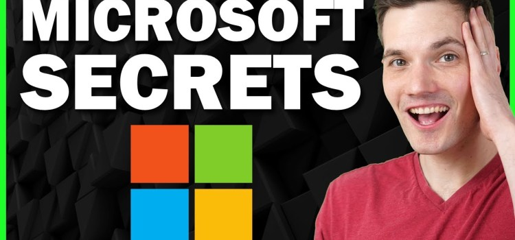 Fun Secrets in Microsoft Products