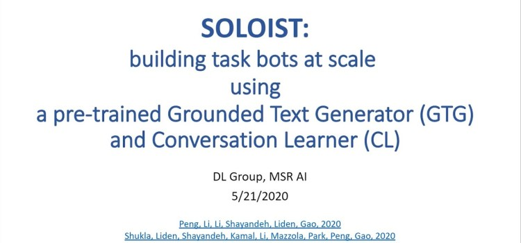 SOLOIST: Building Task Bots at Scale