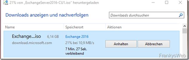 Exchange 2016 CU1